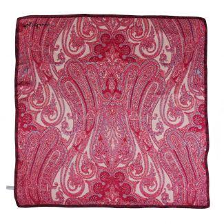 I love paisley cherry silk scarf