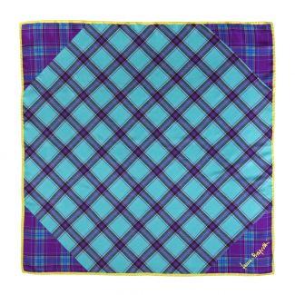 Melrose cobalt blue silk scarf
