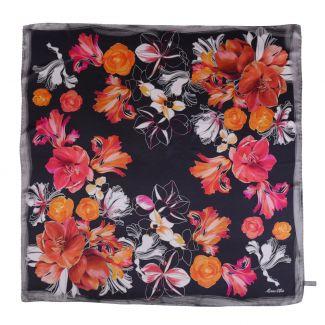 Geisha black silk scarf