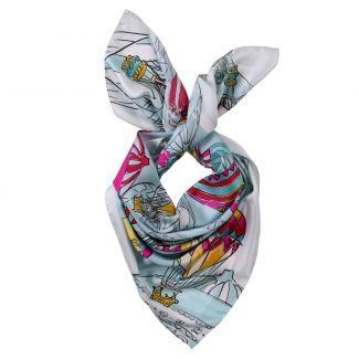 Make a Wish ciel silk scarf