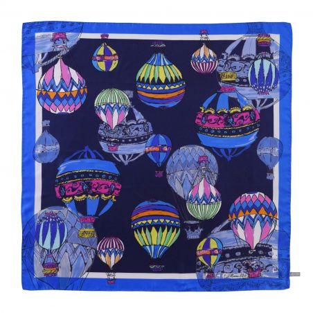 Make a Wish Fashion night blue silk scarf