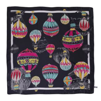 Make a Wish Fashion dark silk scarf