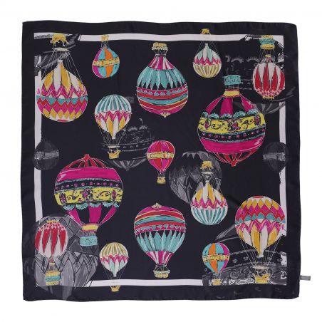 Make a Wish Fashion dark silk scarf