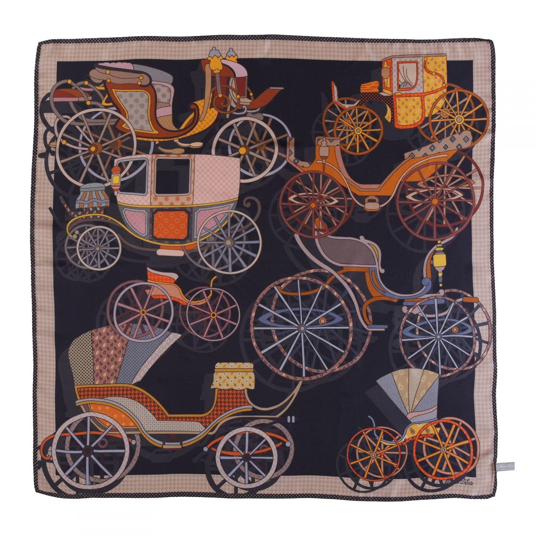 Paris d'autre fois noir silk scarf