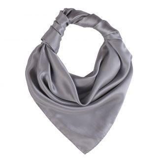 Pearl grey L. Biagiotti silk scarf