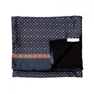 Gift: Anvers dark red silk and wool scarf and best-seller The Testament of Abraham