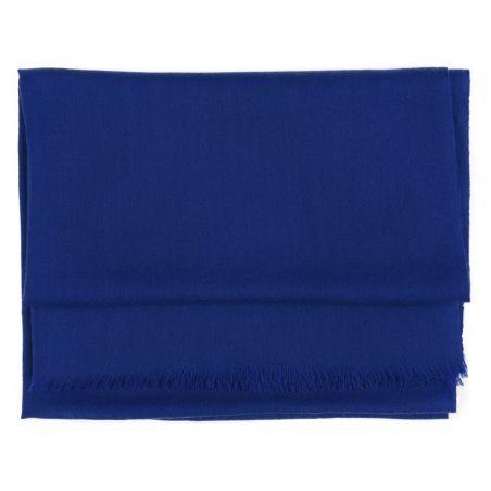 Esarfa lana si casmir Marina D'Este sapphire blue
