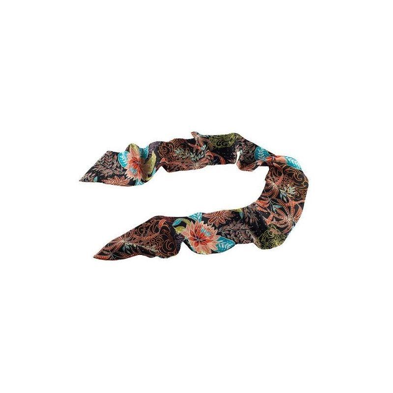Esarfa Ungaro flori toamna fond negru
