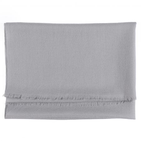 Wool and cashmere scarf Marina D'Este perfect grey