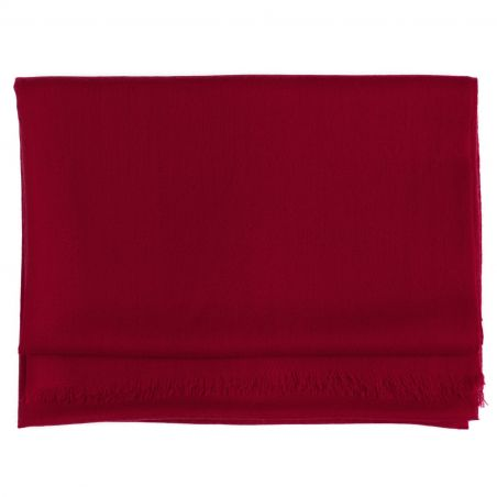 Wool and cashmere scarf Marina D'Este sweet burgundy