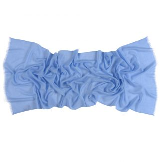 Wool and cashmere scarf Marina D'Este blue ice