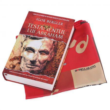 Cadou: Esarfa matase RR Zodiaco Red si bestseller-ul Testamentul lui Abraham