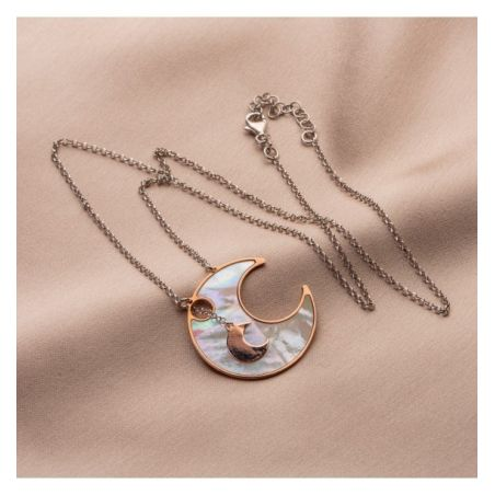 Gift: Silver necklace and earrings Orbital Galaxy