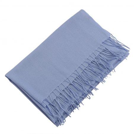 Esarfa lana Mila Schon pale blu