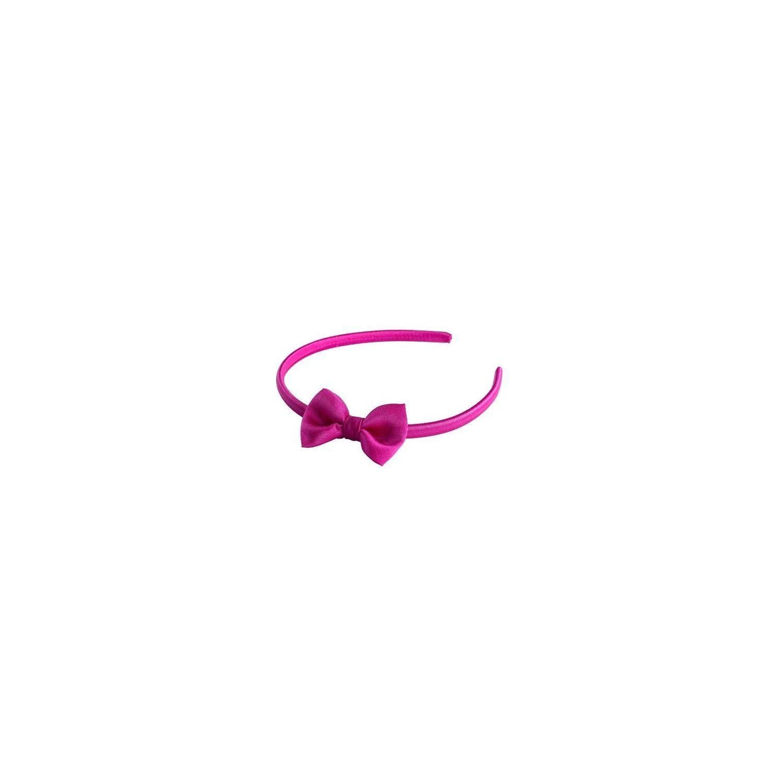 Headband cu fundita magenta