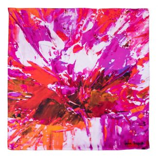 Silk scarf True Colors red