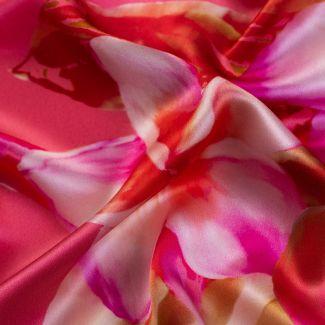 Esarfa matase Floral Obssesion pink