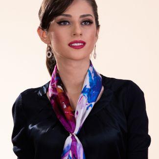 Silk scarf True Colors violet
