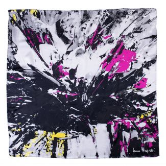 Silk scarf True Colors black