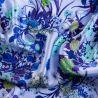 Esarfa matase Essence of Summer blue