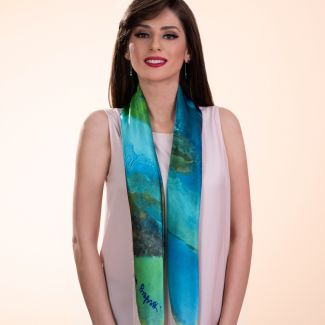 Silk scarf That Special Place green
