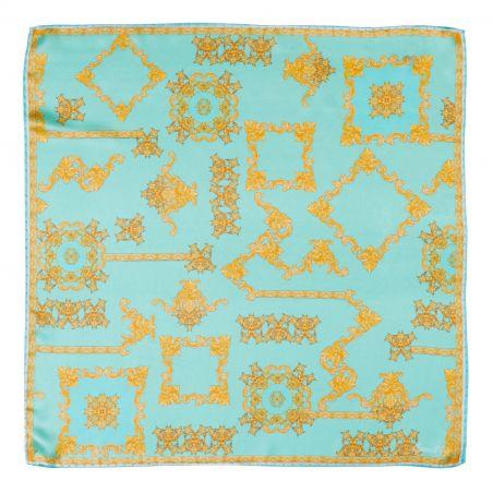 Silk scarf Choices Game turcoise