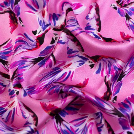 Silk scarf Like a bird fucsia