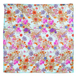 Silk scarf Essence of Summer turcoaz