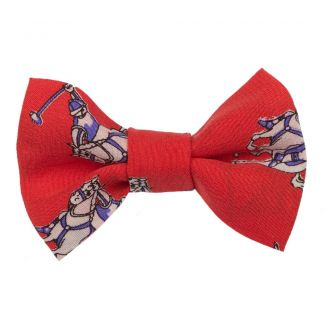 Hot Red Jeans bow clip