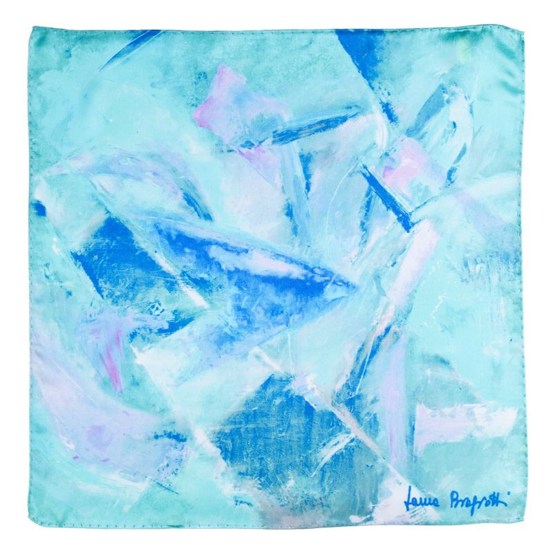 Silk scarf First Moment turcoise