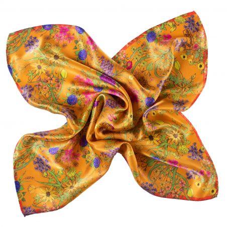Silk scarf Essence of Summer yellow