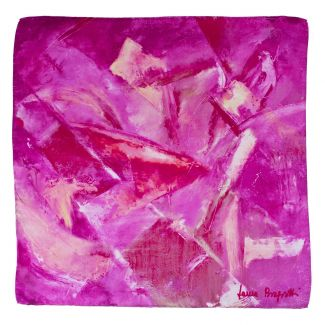 Silk scarf First Moment fucsia