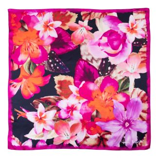 Silk scarf Floral Obsession black