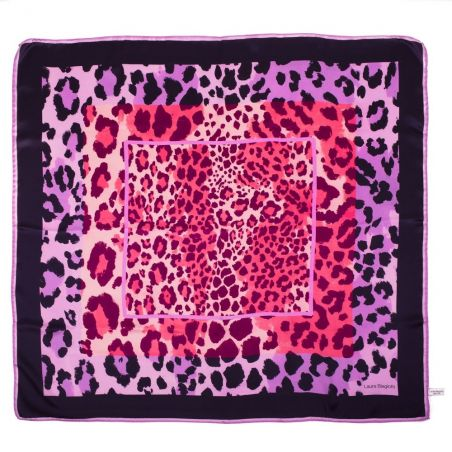 Purple Animal Print Laura Biagiotti Scarf