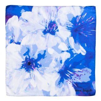 Silk scarf Just Spring blue