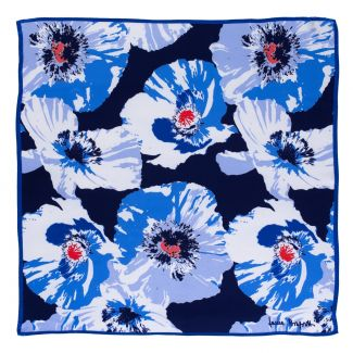 Silk scarf It's a Poppy  blue