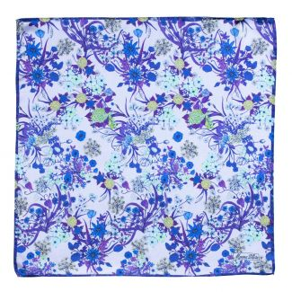 Silk scarf Essence of Summer blue