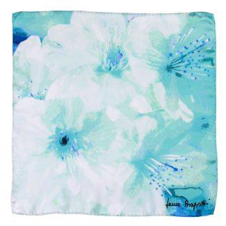 Silk scarf Just Spring Aqua