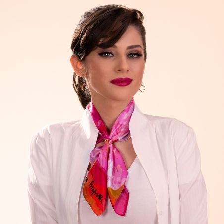Silk scarf Just Spring pink