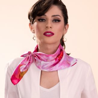 Silk scarf Just Spring pink