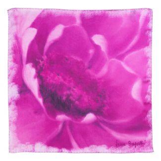 Silk scarf Inside that day magenta