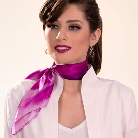 Silk scarf Inside that day magenta