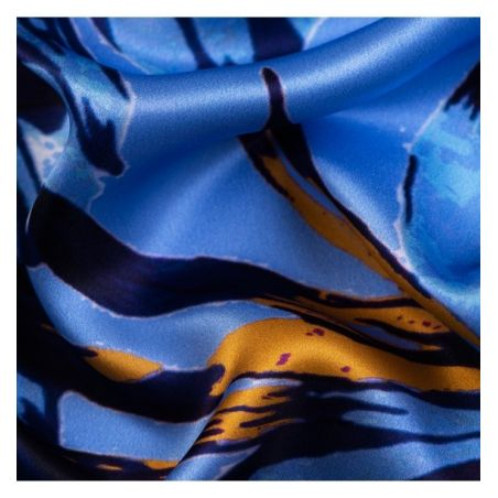 Gift: Urban Escape silk scarf and Swarovski Bermuda Blue silver earrings