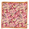 Silk scarf Like a bird orange