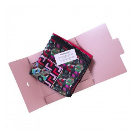 Gift: RR Vasareli pink silk scarf and silver silk ring