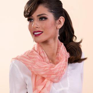 Silk shawl Retro Vibes corai