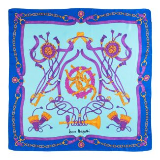 Twill silk scarf Loveday blue