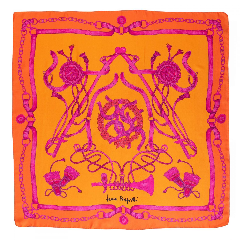 Twill silk scarf Loveday spicey