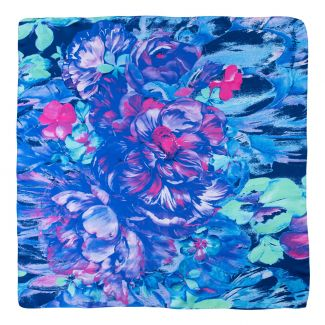 Twill silk scarf Aquarela Delicate blue