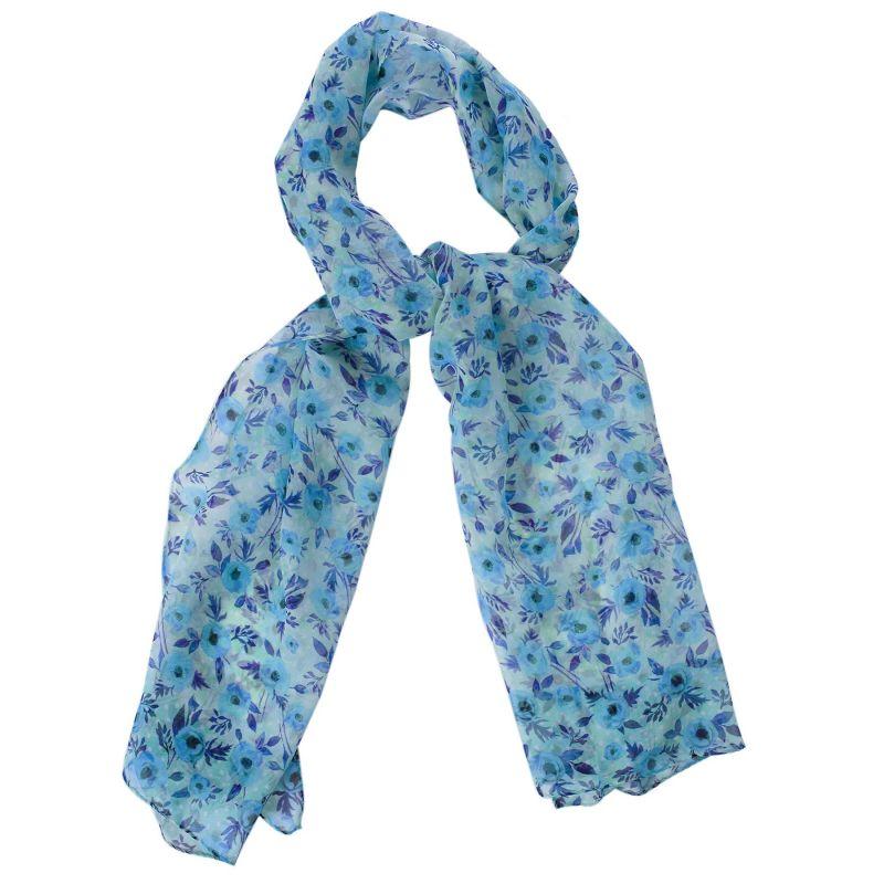 Silk shawl Campo di Fiore ciel